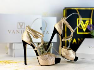 36   Sandale Ada Gold + Camoscio Negru Promo [1]