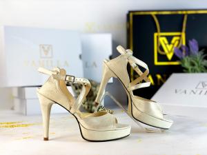 36   Sandale Berna Gri cu Reflexii   Toc Mic Promo1