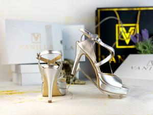 Sandale Berna Silver Toc Mic0