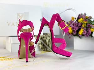 Sandale Dakar Piele Intoarsa Pink Promo [2]