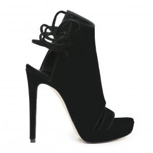 Sandale Monaco din piele intoarsa Negru [1]
