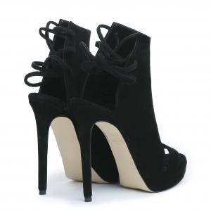 Sandale Monaco din piele intoarsa Negru [2]