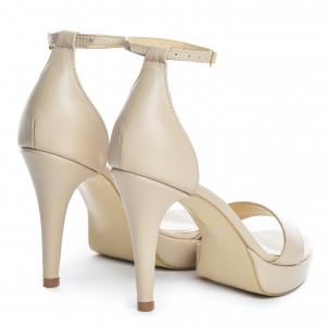 Sandale Viena Piele Neteda  Nude Toc Mic2