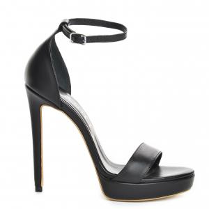 Sandale Viena Piele Neteda Toc Inalt [1]