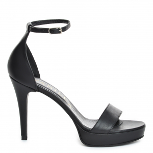 Sandale Viena Piele Neteda  Black Toc Mic1
