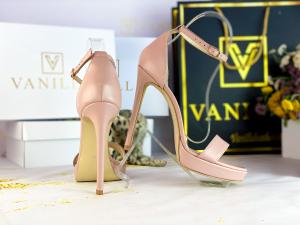 Sandale Viena Piele Neteda Pink  Toc Inalt1
