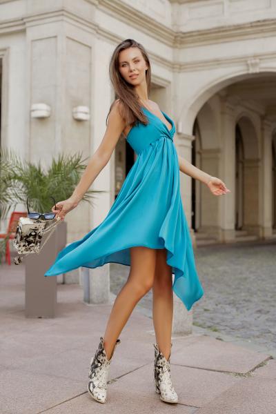 Rochie Melissa Green Blue 2