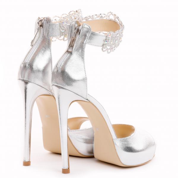 Sandale Alina Cristale Silver 2