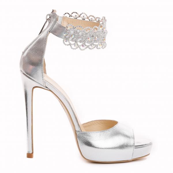 Sandale Alina Cristale Silver 1