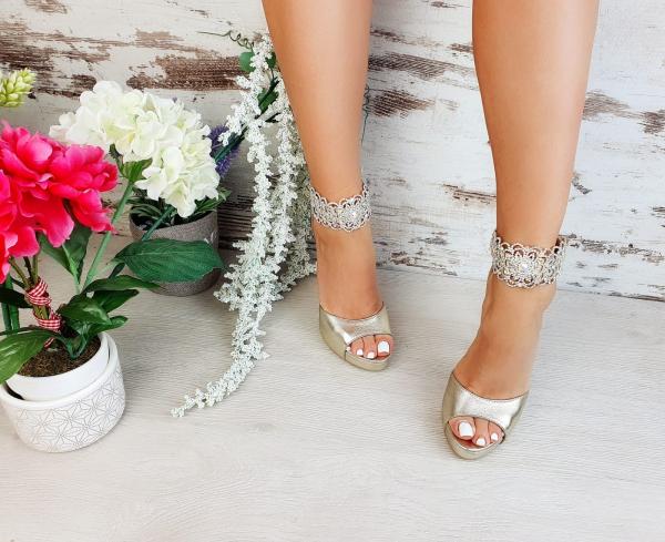 Sandale Alina Cristale Gold 2