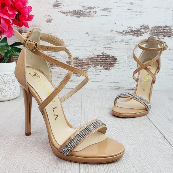 Sandale Aura Cristale Swarovski din Lac Promo 1