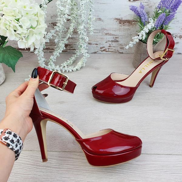 Sandale Baku Piele Lacuita Promo 0