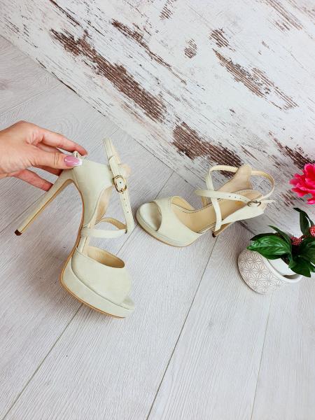 Sandale Berna Piele Intoarsa Promo 0