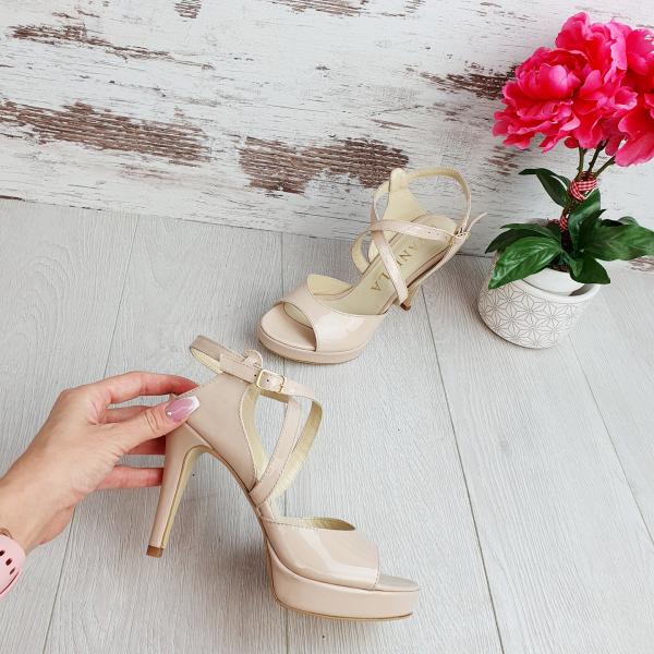 Sandale Berna Piele Lacuita Promo 0