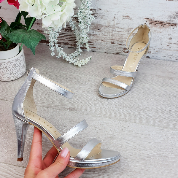 Sandale Cairo Argintiu Promo 1