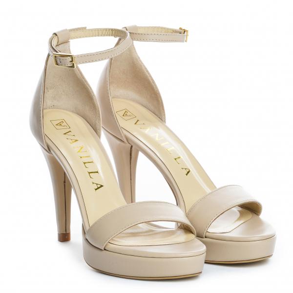 Sandale Viena Piele Neteda Toc Mic 9