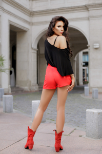 Pantaloni scurti Sonia Red1