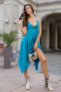 Rochie Melissa Green Blue1