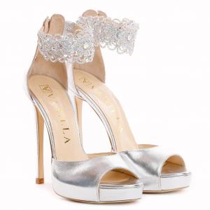 Sandale Alina Cristale Silver0