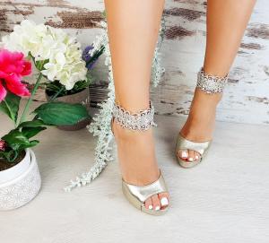 Sandale Alina Cristale Gold1