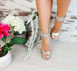 Sandale Alina Cristale Gold0