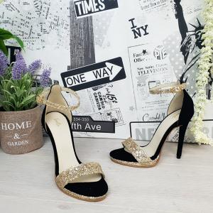 Sandale Ankara Piele Intoarsa si Glitter Promo1