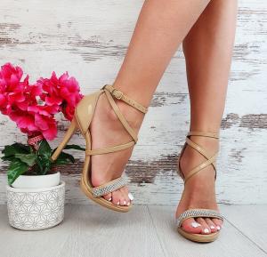 Sandale Aura Cristale Swarovski din Lac Promo0