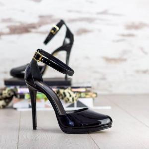 Sandale Beijing Piele Lacuita Promo0