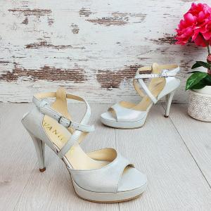 Sandale Berna Gri cu Reflexii Argintii Promo1