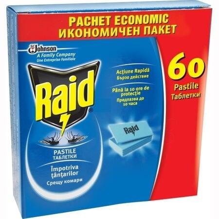 RAID PASTILE ANTITANTARI ,CUTIE 60BUC [0]