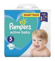 PAMPERS ACTIVE BABY GIANT NR. 5, 11-16 KG 64 BUC/PACHET [0]