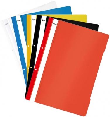 Dosar plastic A4 cu sina si perforatii, diverse culori, 10 buc/set Noki [0]