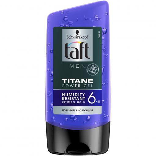 Gel de par Taft Looks Titane Power, Fixare ultra puternica, rezistent la umiditate, 150 ml [0]