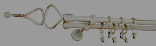Galerie dubla culoare alb lucios patina fi16 0