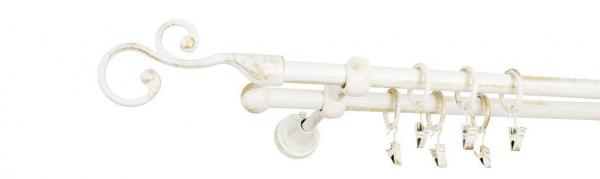 Galerie dubla culoare alb lucios patina fi16 2