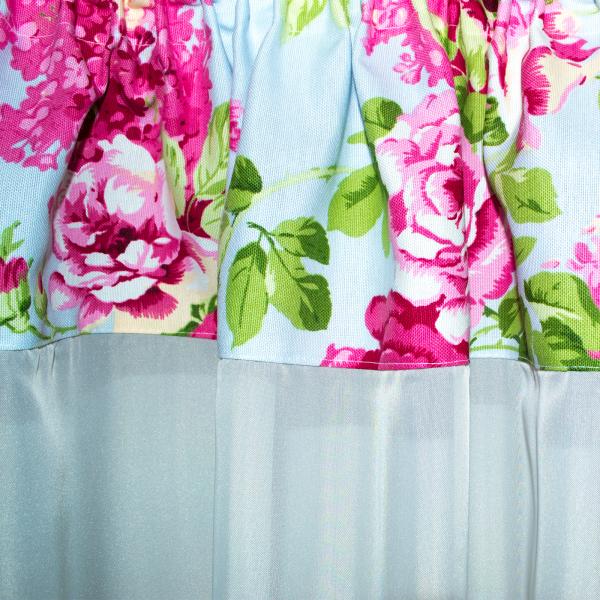 Perdea Velaria cu flori roz, 325x150 cm 1