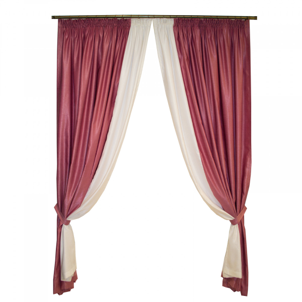 Set draperii roz prafuit, 420x255 cm 0
