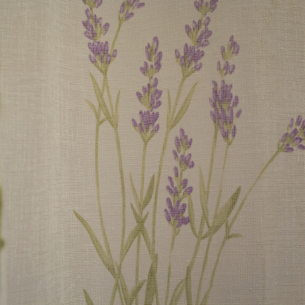 Perdea Velaria din in cu imprimeu lavanda, 190 x 170 cm [1]