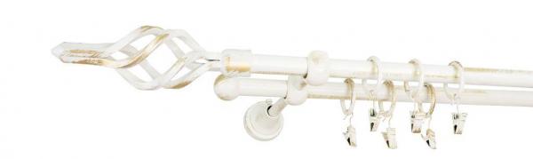 Galerie dubla culoare alb lucios patina fi16 8