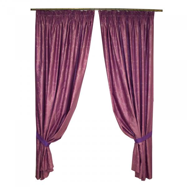 Set draperii Tafta mov, 2x185x245 cm 0
