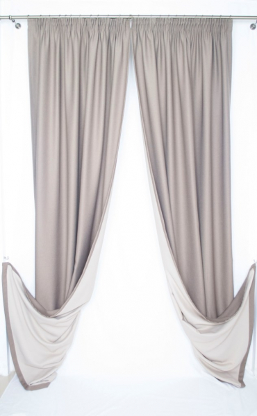 Draperie Velaria Alexander culoare nuca 300cm latime 2