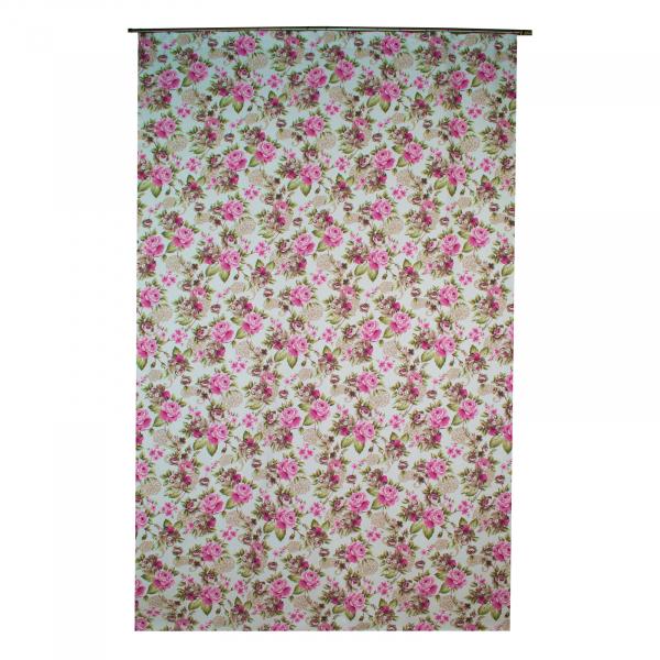 Draperie Velaria floral roz/gri, diverse dimensiuni 2