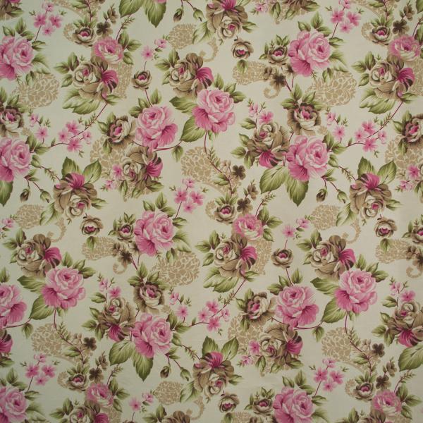 Draperie Velaria floral roz/gri, diverse dimensiuni 1