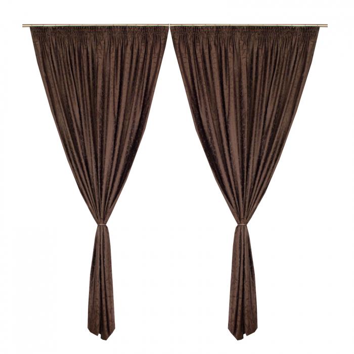 Set draperii Velaria jacard wenge, 2*190x245 cm 0