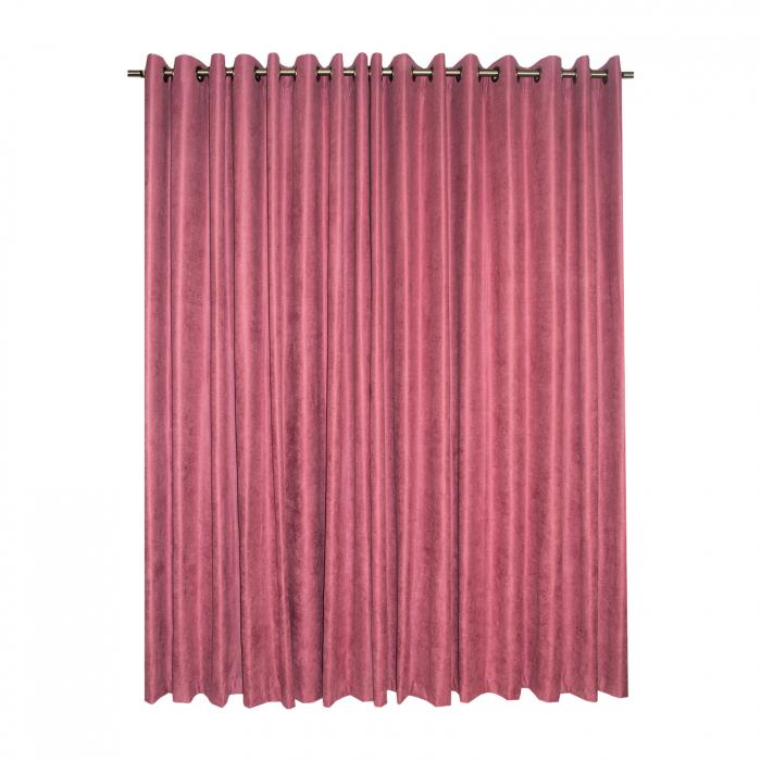 Set draperii Velaria roz catifelat, 2*230x225 cm 1