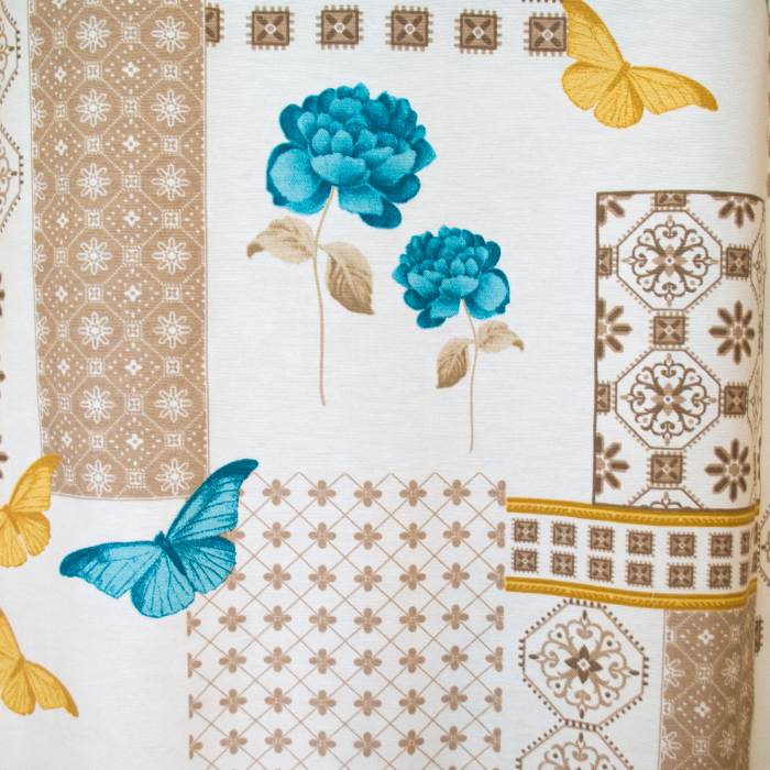 Draperie Velaria teflonata trandafiri albastri [0]
