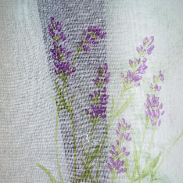 Perdea Velaria scurta cu imprimeu lavanda 2