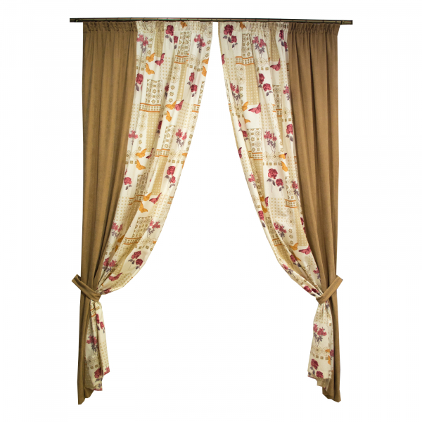 Set draperii Velaria fori grena, 2x135x260 cm 0
