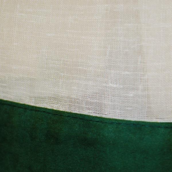 Perdea de bucatarie din in bej, 400x170 cm 1