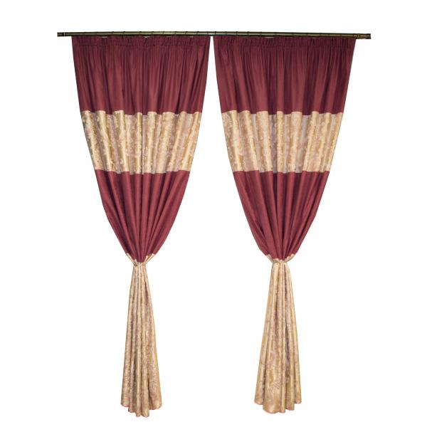 Set draperii sama roz, unicat, 2x160x220 cm 0